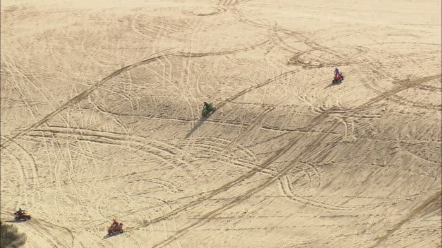 ws aerial view of sand dunes near pacific coast / oregon, oregon, united states - pacific coast stock videos & royalty-free footage