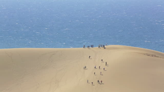 WS View of Sand Dunes / Tottori, Tottori Prefecture, Japan