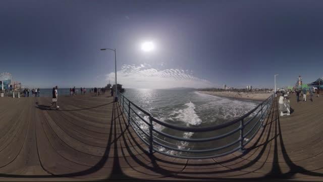 VR view of Santa Monica Beach