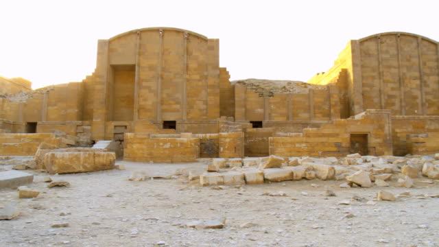 ws pan view of saqqara festive complex / saqqara, egypt - saqqara stock videos and b-roll footage