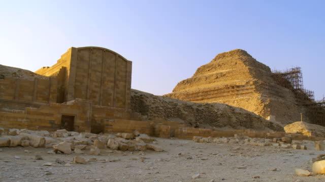 ws view of saqqara festive complex / saqqara, egypt - saqqara stock videos and b-roll footage