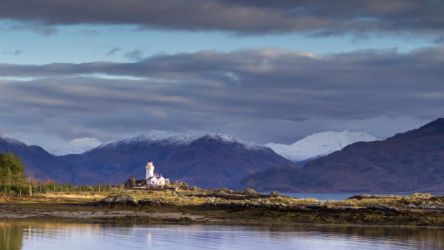 view of scottish mainland from isle of skye - time lapse - scotland stock videos & royalty-free footage