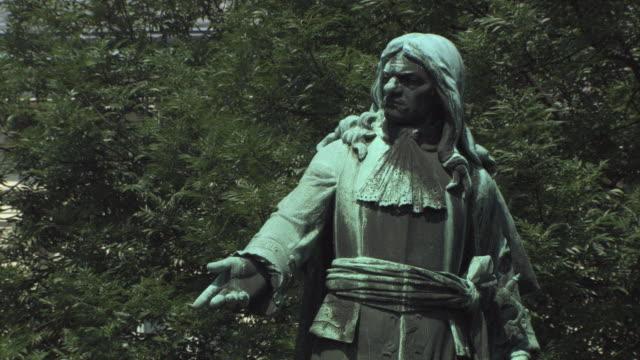 MS ZO View of sculpture in park / Ljubljana, Slovenia