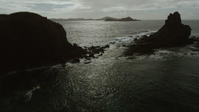 WS TU AERIAL POV View of sea and island / Puerto Rico, United States