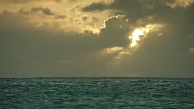 WS View of sea at sunset / St. Maarten