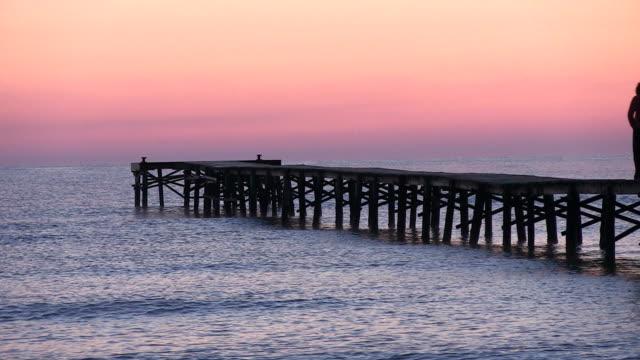 MS View of seascape and sunset / Muro, Mallorca Balearic Island, Spain
