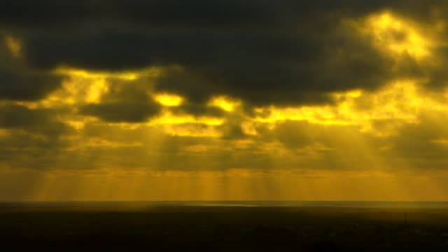 View of Seascape and the sky over Sunset in Galapagos Islands