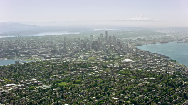 AERIAL View of Seattle from Queen Anne