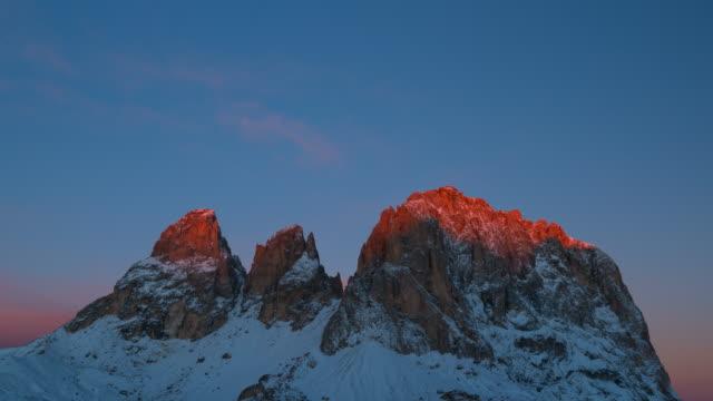 View of Sella Pass, Mountain Range Dolomites