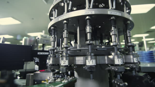 cu view of semiconductor manufacturing machine / bang pa-in, ayutthaya, thailand - conductor stock videos & royalty-free footage