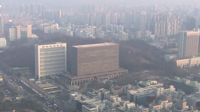 view of seoul central district prosecutor's office in seocho-gu, seoul, south korea - prosecutor stock videos & royalty-free footage