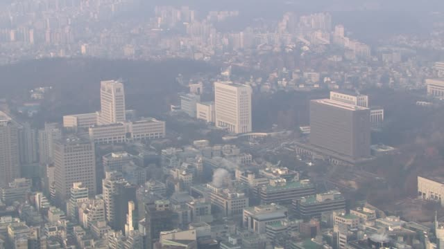 view of seoul central district prosecutor's office, supreme prosecutors' office and supreme court in seocho-gu, seoul, south korea - prosecutor stock videos & royalty-free footage