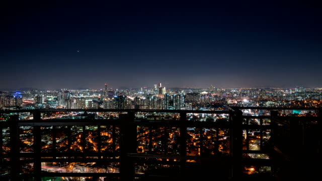 View of Seoul city in Yeouido area at night