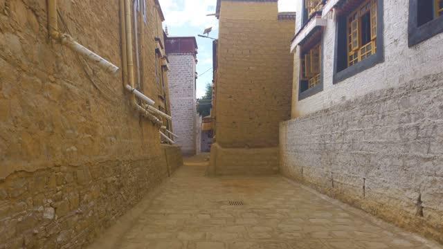 view of sera temple,tibet,china. - traditionally tibetan stock videos & royalty-free footage