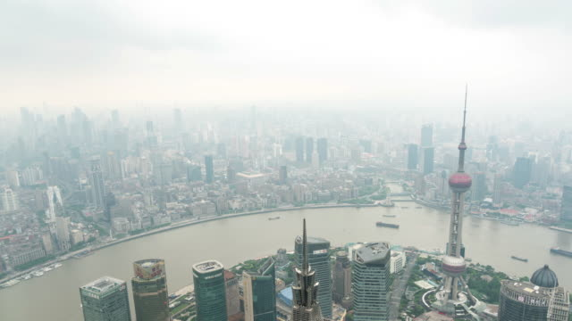 view of shanghai skyline / shanghai, china - pearl stock videos and b-roll footage