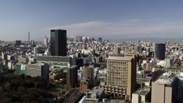 WS View of Shinjuku skyline / Tokyo, Tokyo-To, Japan