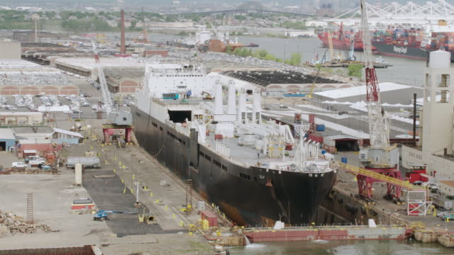MS PAN ZO View of ship in dockyard / New York City