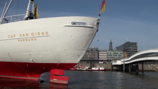 MS View of ship rudder / Hamburg, Hamburg, Germany