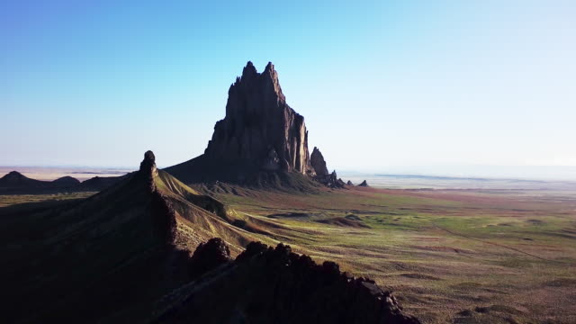 WS AERIAL View of Shiprock