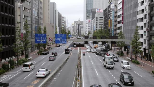 WS T/L HA View of Showa Dohri near Shinbashi Looking north / Tokyo, Japan