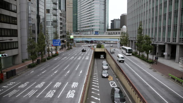 WS T/L HA View of Showa Dohri near Shinbashi Looking south / Tokyo, Japan