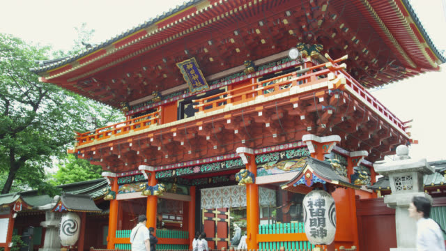 ms view  of shrine / tokyo, tokyo-to, japan - shrine stock videos & royalty-free footage
