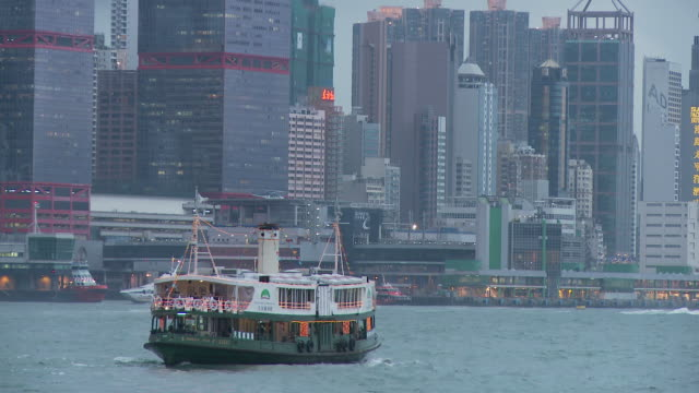 stockvideo's en b-roll-footage met view of shun tak heliport hong kong, china - star ferry