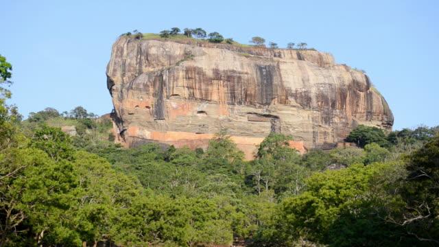 ws view of sigiriya and lion rock / dumbullah, matale, sri lanka - felsformation stock-videos und b-roll-filmmaterial