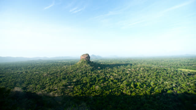 view of sigiriya from pidurangala, sri lanka. - sri lankan culture stock videos & royalty-free footage