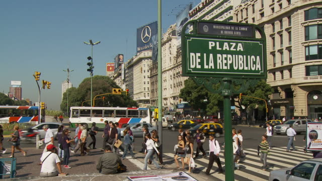 view of signboard in buenos aires, argentina - buenos aires stock videos & royalty-free footage