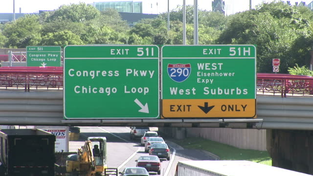 View of signboards in Chicago United States