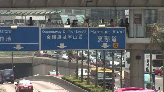 view of signboards in hong kong china - median nerve stock videos & royalty-free footage