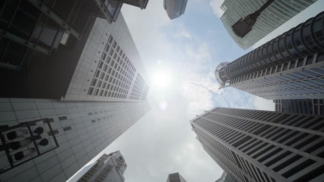 View of Singapore city skyline.