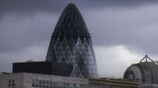 ws view of sir norman foster building / london, uk - sir norman foster building stock videos & royalty-free footage