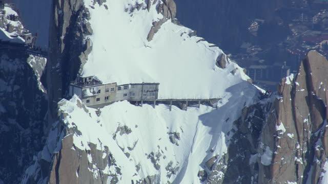 WS AERIAL ZO View of Ski station / Switzerland