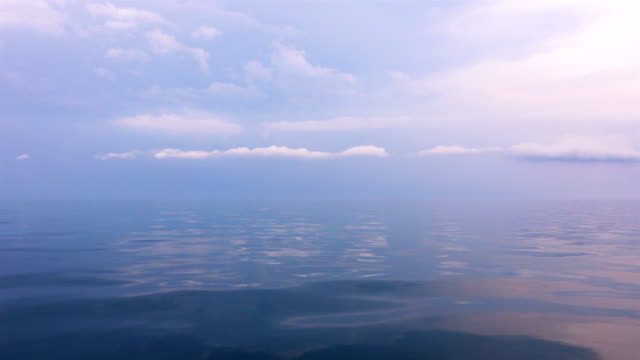 View of sky with cloud and calm sea