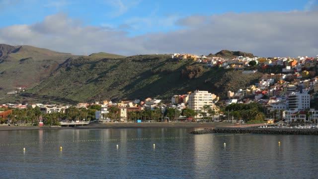 Blick auf die Skyline und den Hafen San Sebastian De La Gomera / Kanarische Inseln - Spanien