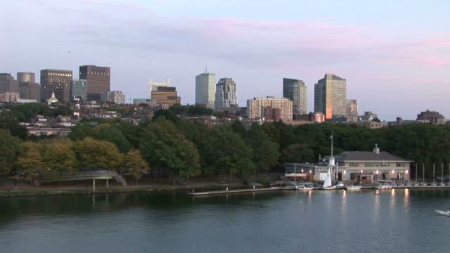 View of Skyline from Longfellow bridge in Boston United States