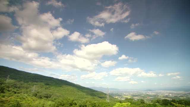 stockvideo's en b-roll-footage met ws pan view of skyline / fukashima, tohoku, japan - tilt down