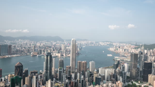 T/L WS view of skyline /Hongkong