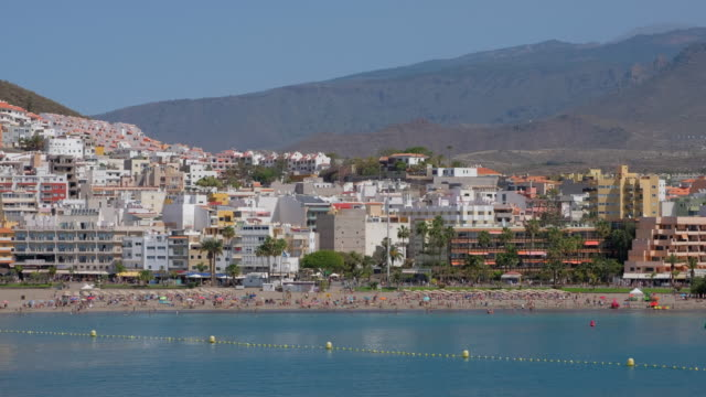 View of skyline Los Cristianos on Tenerife South / Canary Islands - Spain