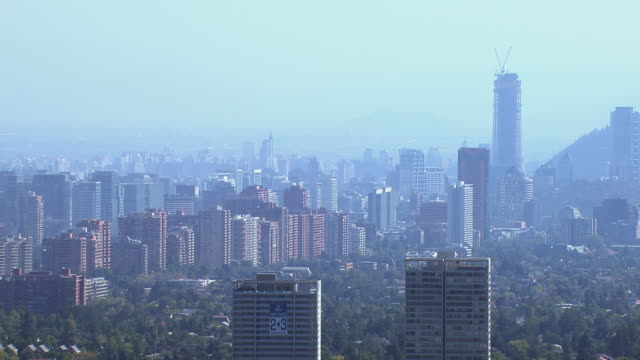 view of skyline - chile stock videos & royalty-free footage