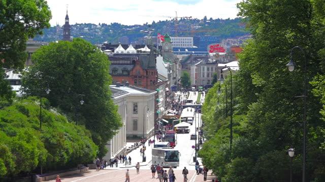 WS View of Slottsparken to Karl Johans gate / Oslo, Norway