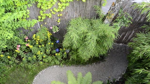 MS View of small Garden / Landshut, Bavaria, Germany