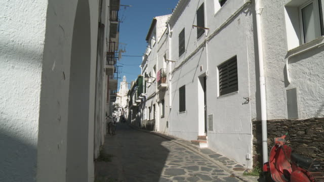 MS View of Small street  / Cadaques, Catalonia, Spain