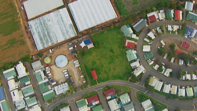 ws aerial view of small town / adelaide, south australia, australia - アデレード点の映像素材/bロール