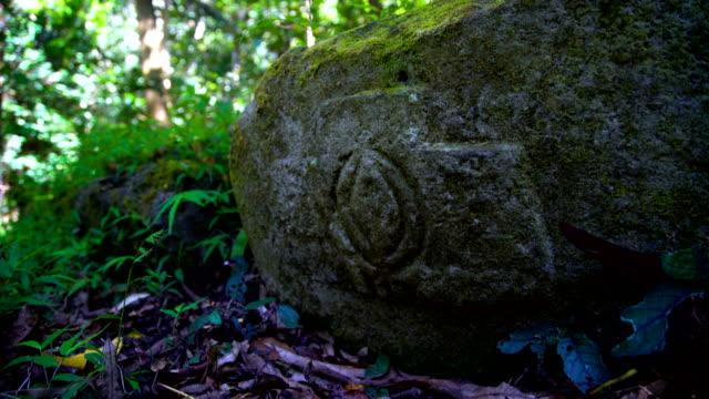 view of smiling tiki rock statue polynesia marquesas - remote location bildbanksvideor och videomaterial från bakom kulisserna