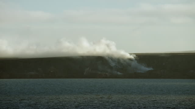 view of smoking hills at cape bathurst - northwest passage stock videos and b-roll footage