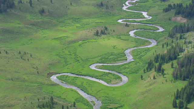 WS AERIAL ZI View of Snake River / Wyoming, United States