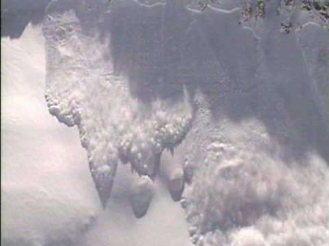 WS View of snow avalanche / Colorado, USA